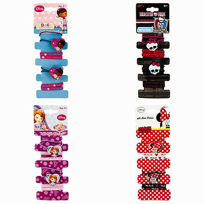Disney Hair Bobbles Girls Hair Bands Elastics - 4 Pack