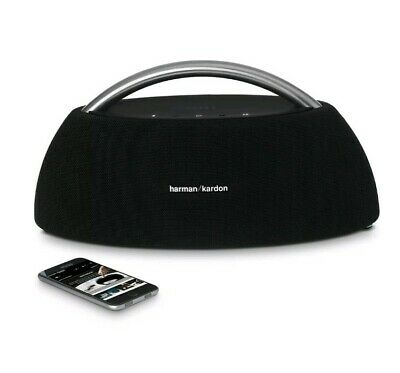 Harman Kardon Go + Play Black Portable WiFi Dual Bluetooth Wireless Speaker- NEW