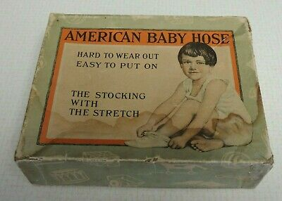Vintage Advertising American Baby Hose Stockings Box Only