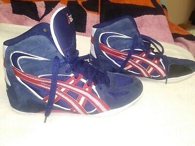 Asics Medalist Size 8 (EURO 39.5) Red White Blue Wrestling Shoes JL001