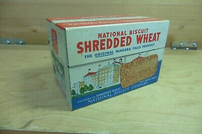 Vintage recipe can Shredded Wheat National Biscuit 1973 nabisco salesman sample