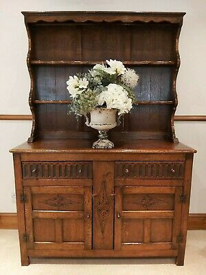 ANTIQUE BEAUTIFUL OAK VINTAGE DRESSER SIDEBOARD - Detached Shelves