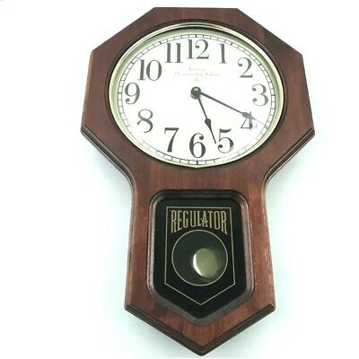 Ansonia 2075 Westminister Chime Regulator Wall Clock Vintage 7.B3