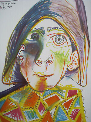 Picasso Galerie Louise Leiris Original-Ausstellungsplakat, 1971, Clown