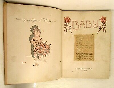 """Original African-American Baby Book, Chicago, """"Healthiest Colored Baby"""" 1929."""