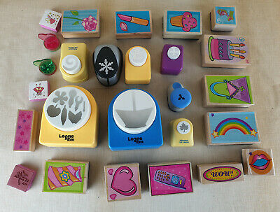 Assortment of Craft Rubber Stamps Die Cutter Punch Job Lot. Cardmaking