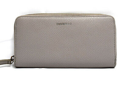 Fiorelli Womens Faux Leather Large Zip Around Purse Wallet Grey