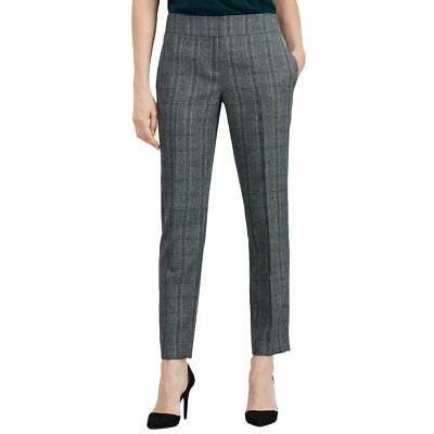 KASPER NEW Women's Fir Green Multi Plaid Pleated Dress Pants 14 TEDO