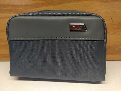 TUMI for Delta Small Gray Zip Pouch Soft Sided Travel Case TUMI toiletry bag