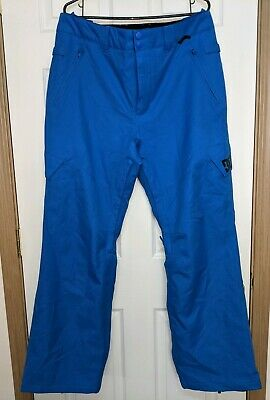 Used DC Banshee Insulated Shell Snowboard Ski Pants Blue Men's Size Large