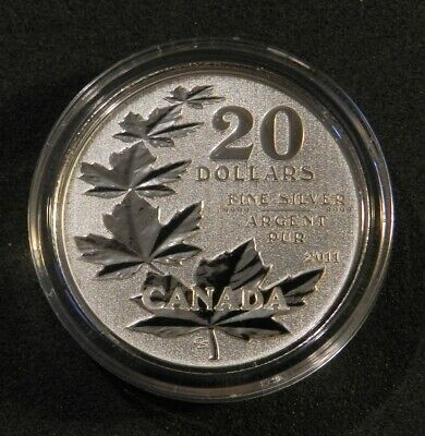 2011 Canada $20 Silver Maple Leaf Coin In Holder