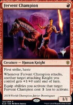 Magic: the Gathering MTG THRONE ELDRAINE FERVENT CHAMPION EXCLUSIVE PROMO PACK