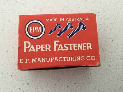 Vintage EPM Made in Australia Paper Fastener 3 boxes