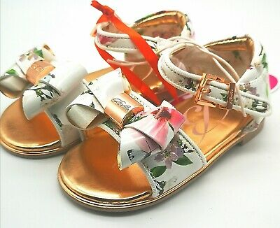 Baker by Ted Baker - Girls' White Floral Sandals new size UK 9 Kids