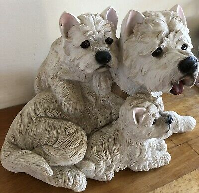 Latex Mould for making This Cute Westie Family