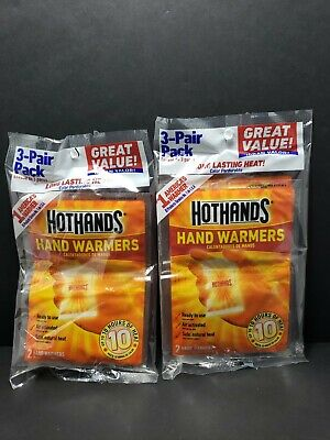 NEW Hot Hands Hand Warmers 3 pairs long lasting heat pack  Expire 2022 lot of 2