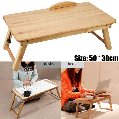 Folding Laptop Stand Desk Tray Table Bed Study Notebook Computer Work Holder
