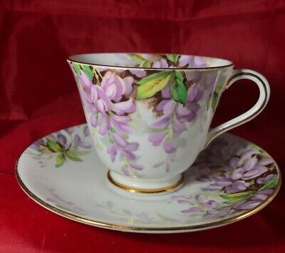 Vintage Royal Standard Wistaria Lavender Gold Tea Cup Saucer England Bone China
