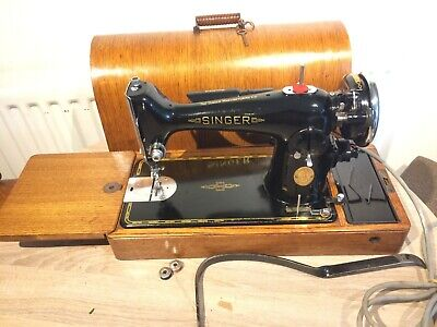 Hermoso 1934 Singer 201K Eléctrico Vintage Sewing Machines - Papel Broche Decals