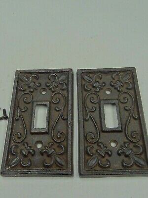 Sold Cast Iron Vintage Looking Light Switch Covers Set Of 2 With Screws