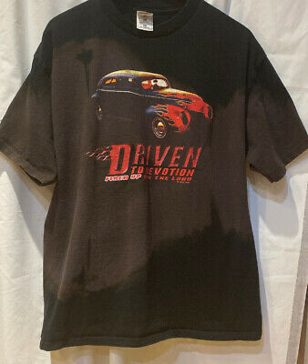 """Fruit of the Loom T-Shirt XL """"Driven to Devotion Fired Up for the Lord"""" RARE"""