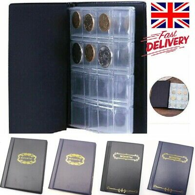 250 Album Coin Penny Money Storage Book Case Folder Holder Collection Collecting