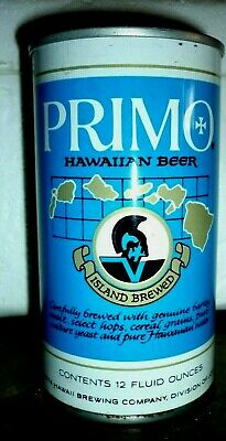 Collectable beer cans: Primo Hawaiian Beer straight steel 12 fl oz can