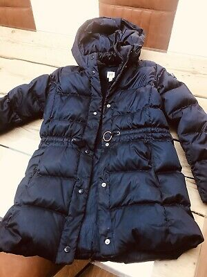Gap Kids Girls Navy Puffer Puffa Warm Quilted Coat Jacket Lined Age 10-11 Years