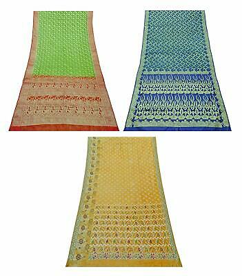 Vintage Pure Silk Saree Traditional Indian Sari Combo of 3 Pcs COM-PSSI-180