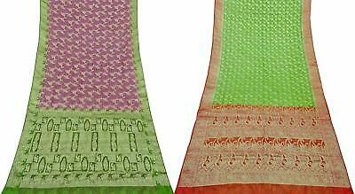 Vintage Combo of 2 Pcs Saree Vintage Sari Sewing Craft Fabric COM-PSSI-109