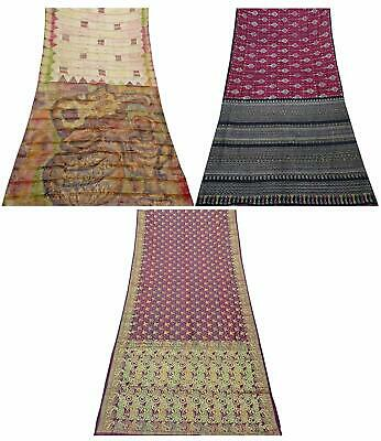 Vintage Pure Silk Saree Traditional Indian Sari Combo of 3 Pcs COM-PSSI-131