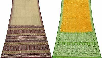 Vintage Pure Silk Saree Traditional Indian Sari Combo of 2 Pcs COM-PSSI-30