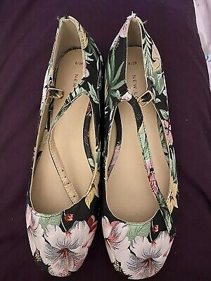 Floral New Look Shoes Size 6 / 39 - New - Embroidered
