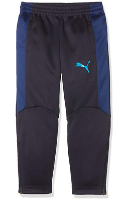 PUMA Evotrg Tracksuit Bottoms Navy Junior Boys Size UK 9-10 Years *REF2*