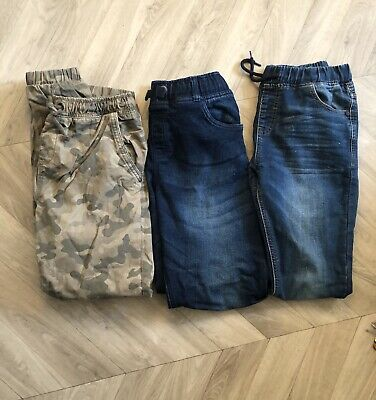 3 Pairs Boys Trousers 2x  Jogger Jeans Next F And F  combat Trousers 11-12