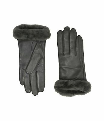 UGG Classic Leather Shorty Tech Charcoal Women's Gloves Winter Apparel 19033