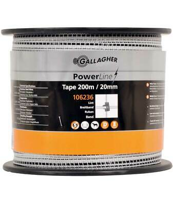 Fettuccia Power line Gallagher da 2 cm in bobina da 200 m con 5 conduttori inox