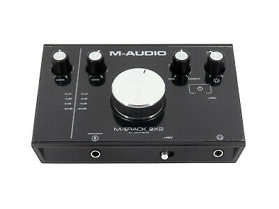 M-AUDIO M-Track 2x2 USB Audio Interface, 2-In/2-Out, 24 Bit/192 kHz, Schwarz