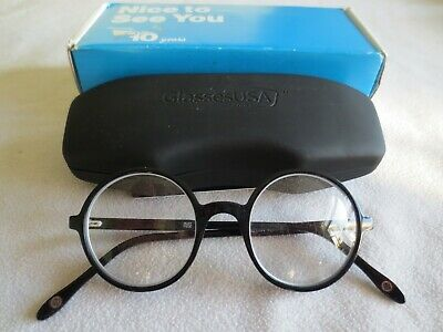 Muse black round glasses frames. 509021. With case.