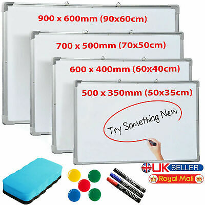 Large Small Dry Wipe Magnetic Whiteboard Office School Home Notice Drawing Board