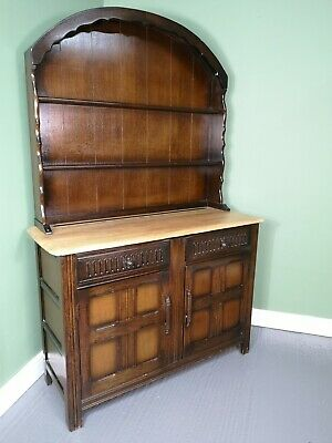 An Antique Mid 20th Century Oak Welsh Dresser Sideboard ~Delivery Available~