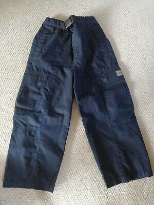 Boys Blue Outdor Trousers / Showerproof Age 5-6 Years