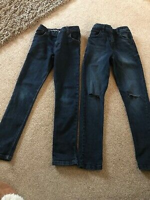 2 Pairs Of Boys Next Skinny Jeans Age 9 Years