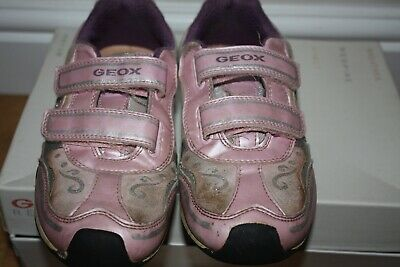 GEOX Respira girls trainers, size 36 UK 3 USA 4