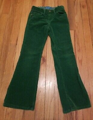 The Childrens Place Girls size 8 Stretch Flare Leg Corduroy Pants Green