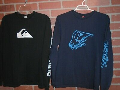 Quicksilver Mens Longsleeve Tshirt Lot Of 2 === Size S/P/Ch