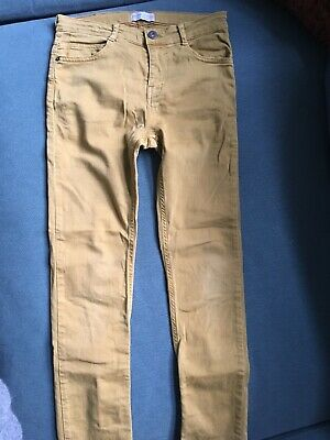 ZARA boys stretchy slim fit skinny jeans adjustable waist WORN ONCE 11-12 years