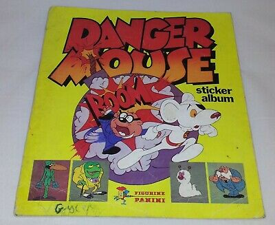 Danger Mouse : Vintage Panini Sticker Album from 1982 : 100% Complete