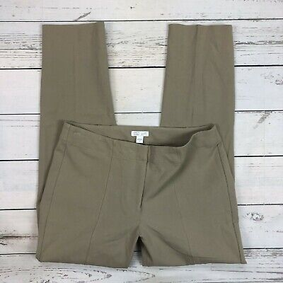 J.Jill Premium Stretch Dress Pants Size 6 Womens Tan Stretch Skinny Ankle Length