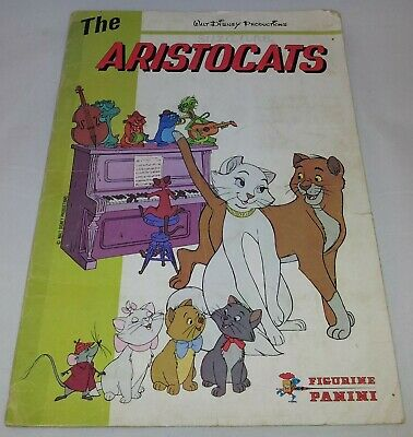 The Aristocats : Vintage Panini Sticker Album from 1980 : 100% Complete